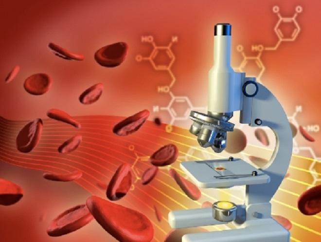 Микроскоп для многократного увеличения частиц крови