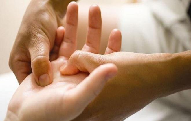 Точки массажа правой руки