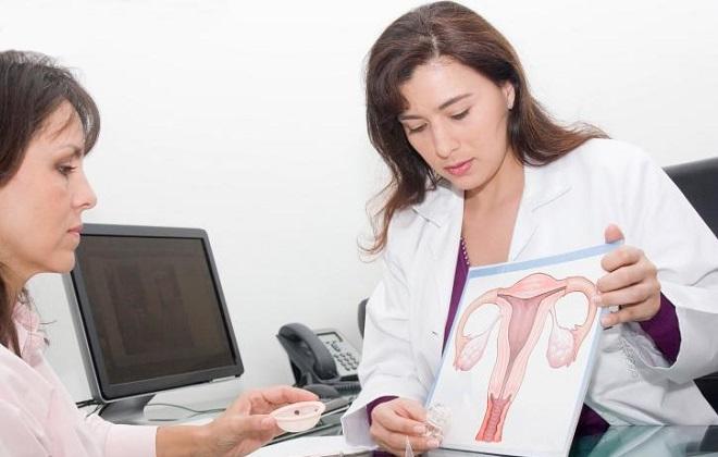 Посещение женщиной врача онколога