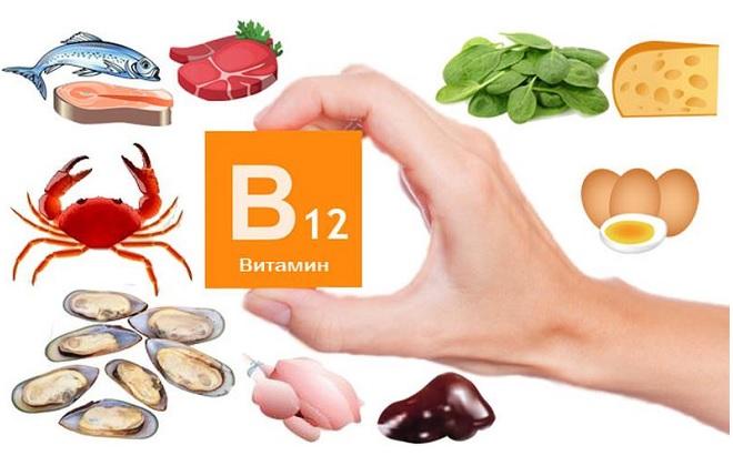 Продукты содержащие витамин B12