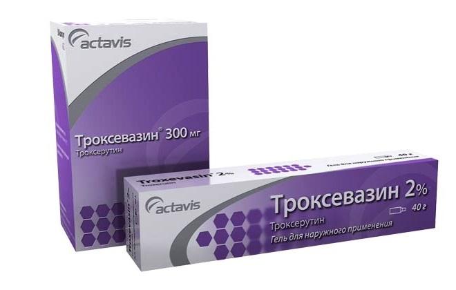 Препарат Троксевазин для наружного применения